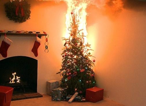 Xmas Tree Fire